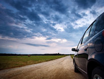 Car on country road Stock Photography