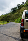 Car in the countryside in Costa Rica Stock Image