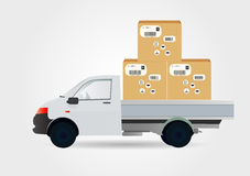 Car courier service Royalty Free Stock Image