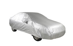 Car with cover sheet Stock Image