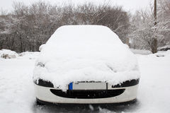 Car coverd with snow Royalty Free Stock Photo