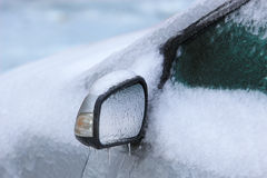Car covered with ice and snow Stock Image