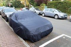 Car covered road. Frankfurt main Royalty Free Stock Image