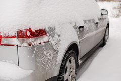 Car covered with snow Stock Image