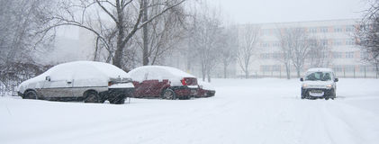 Car covered in snow Stock Photography