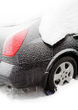 Car covered by snow Royalty Free Stock Image