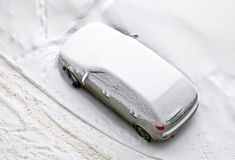 Car covered with snow Royalty Free Stock Photos