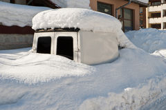 Car covered with snow Royalty Free Stock Image