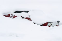 Car covered with snow Stock Photography
