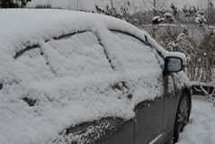 Car covered in snow Stock Photos