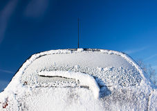 Car covered with snow Royalty Free Stock Images