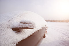 Car covered by snow Stock Images