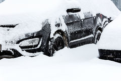 Car covered with snow after snow storm Stock Photo