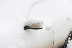 Car covered in snow Royalty Free Stock Photos