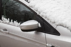 car covered with snow, Winter storm Royalty Free Stock Photos