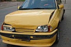 Car crash. Crashed car Stock Images