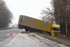 Car crash. Accident on the road. Car crash on a motorway Stock Photo