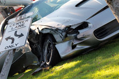 Car crash. Close up of a car wreck Royalty Free Stock Photography