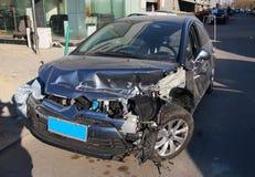Car Crash. Car Destroyed In A Crash stock photos