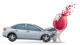 Car crash stock illustration