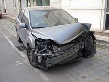 Car Crash. Car Destroyed In A Crash stock images