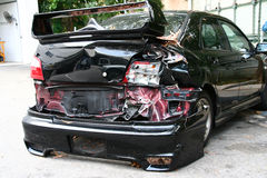 Car Crash. Concept for accident, fatality, drunk-driving, road victim, etc Stock Photo