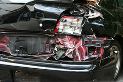 Car Crash. Concept for accident, fatality, drunk-driving, road victim, etc Stock Photos