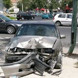 Car Crash. Don't! Drink and Drive Stock Photography