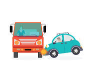 Car crash accident car. Stock Image