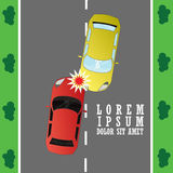 Car crash accident on highway vector illustration
