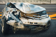 Car crash accident. On the road Stock Image