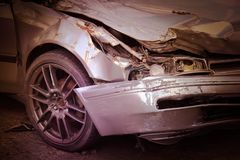 Car crash accident on the road stock image