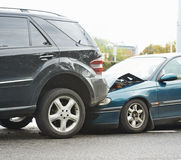 Car crash accident on street Royalty Free Stock Photography