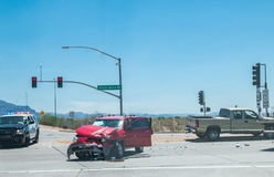 Car crash accident on street. royalty free stock photo