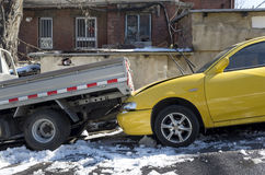 Car crash accident Royalty Free Stock Photos