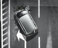 Car crash and accidents. Black and white car crash and accidents Stock Image