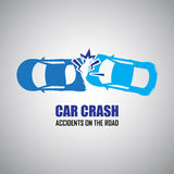 Car crash and accidents icons Stock Photography