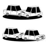 Car crash accidents silhouette vector set. Stock Image