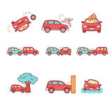 Car crash and accidents Royalty Free Stock Image