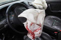 Car Crash air bag Stock Photography