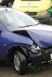 Car crash and ambulance Stock Photography