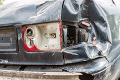 Car crash_bumper to bumper_Tail light demage Royalty Free Stock Photos