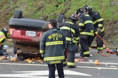 Car crash on California Freeway Stock Photography
