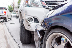 Car crash from car accident on the road Royalty Free Stock Photography