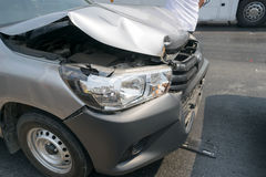 Car crash from car accident on the road Stock Photography