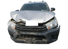 Car crash from car accident on the road Stock Photos