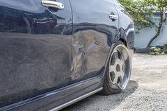 Car crash from car accident on the road. Car damaged crash from car accident on the road wait insurance in a city collision on road, accidents are a major royalty free stock photos
