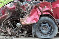 Car after crash Stock Image