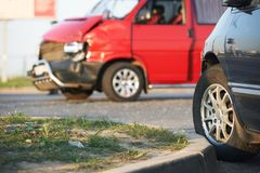Car crash collision Royalty Free Stock Photos