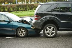 Car crash collision Stock Photo